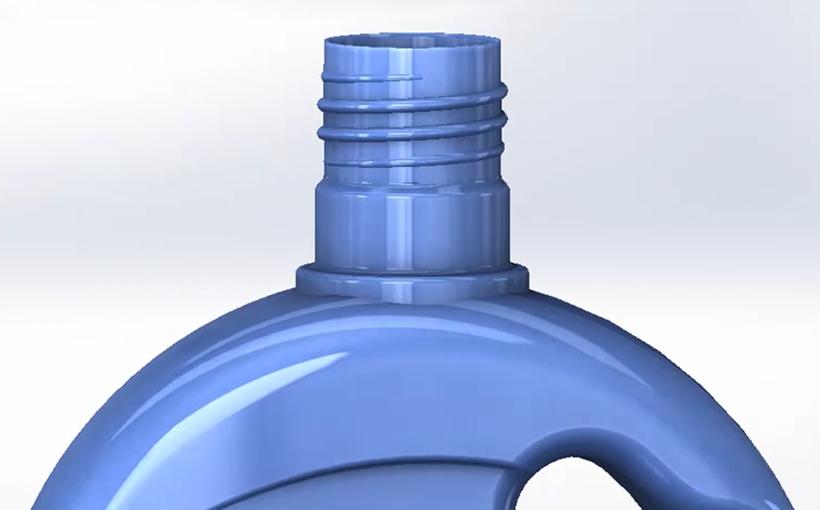 Gwint w butelce – jak przygotować przy użyciu SolidWorks?