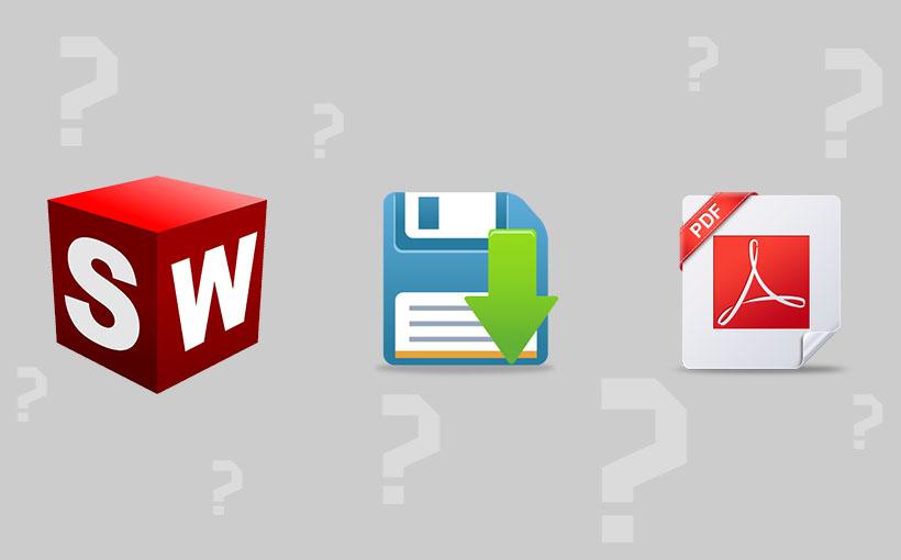 Zapisywanie plików SolidWorks w formatach: PDF, PDF 3D oraz U3D