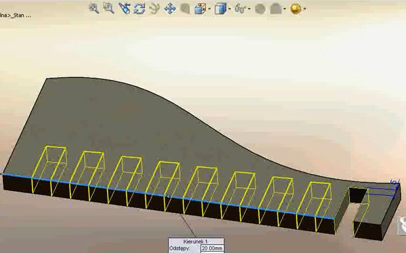 Zaprojektowano w SolidWorks: W dwuszeregu zbiórka
