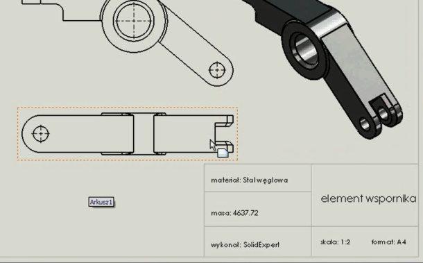 Zaprojektowano w SolidWorks..i znowu te 'papierki'!