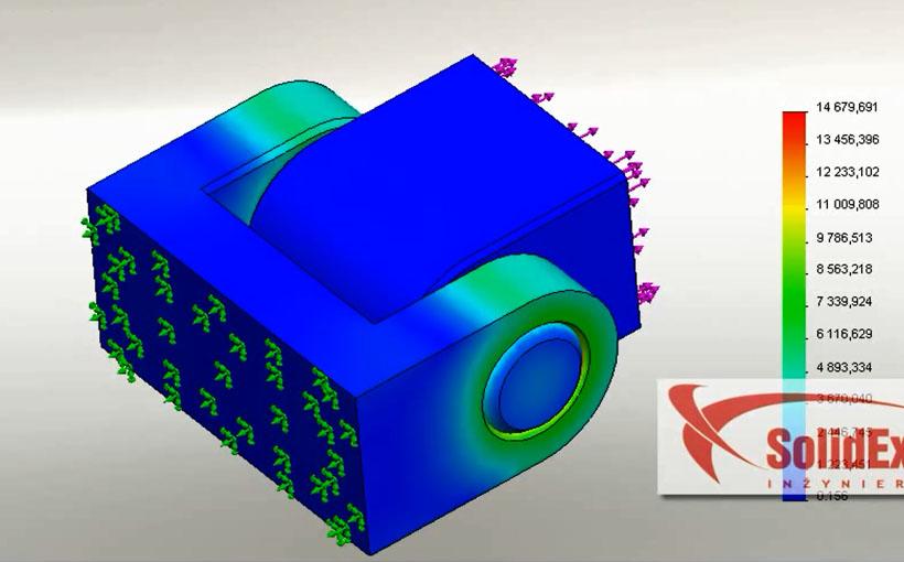 Zaprojektowano w SolidWorks: Ścisk