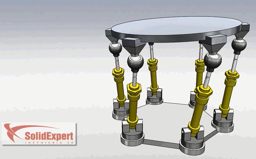 Zaprojektowano w SolidWorks: Platforma na siłownikach