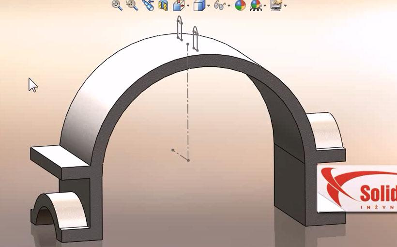 Zaprojektowano w SolidWorks: Dodanie z półobrotu