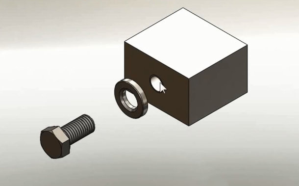 Zaprojektowano w SolidWorks: Narzynką go..