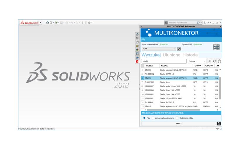 ERP Multikonektor – połączenie SOLIDWORKS oraz PDM z ERP