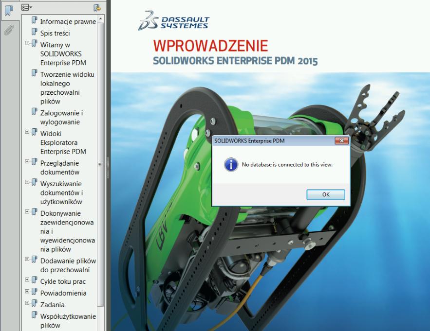 Komunikat 'No database is connected to this view' podczas otwierania plików PDF? Znamy rozwiązanie!