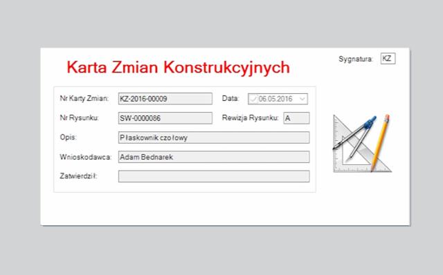 Karty Zmian w SOLIDWORKS PDM Professional