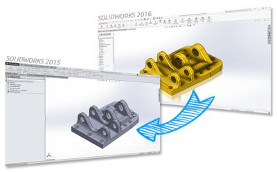 Współpraca plików nowszych wersji SOLIDWORKS ze starszymi wersjami programu