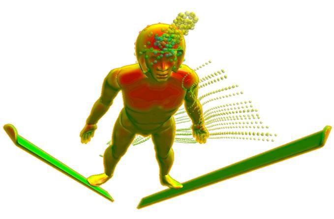 Analizuj skoki narciarskie w SOLIDWORKS Flow Simulation