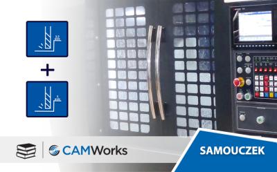 Samouczek CAMWorks: Łączenie operacji 2 i 3 osiowych