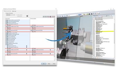 Menedżer synchronizacji obróbki w CAMWorks