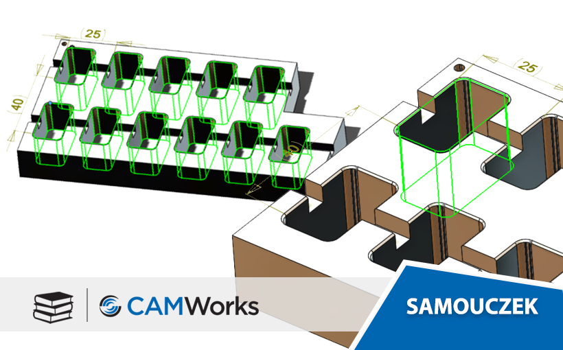 Samouczek CAMWorks: Tworzenie szyku własności