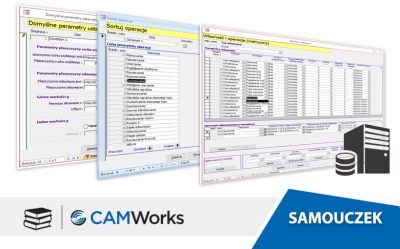 Samouczek CAMWorks: Dostosowywanie parametrów operacji w Technologicznej Bazie Danych
