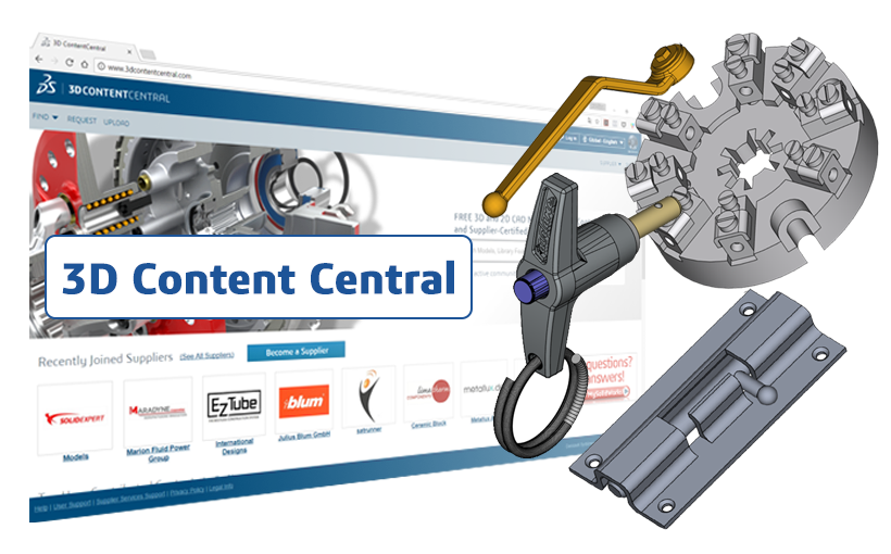 Platforma 3D Content Central – darmowa biblioteka modeli 3D SOLIDWORKS