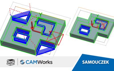 Samouczek CAMWorks: Używanie automatycznych obszarów obejmowania