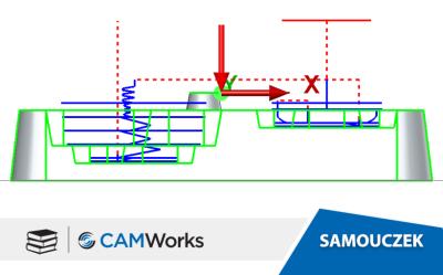 Samouczek CAMWorks: Generowanie obróbki zgrubnej oraz wykończenia dla pochyłych ścian