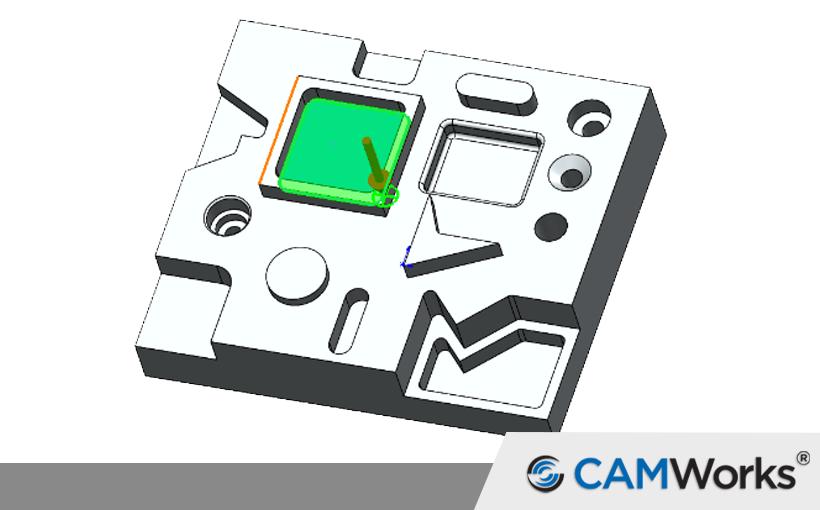 CAMWorks: Obróbka zgrubna kieszeni