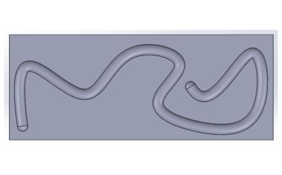 SOLIDWORKS: Tworzenie wycięcia po ścieżce obiektem bryłowym