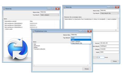 Tworzenie list wyboru dla kart w SOLIDWORKS PDM