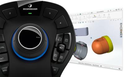 Obracanie i przesuwanie komponentów SOLIDWORKS za pomocą manipulatora 3D