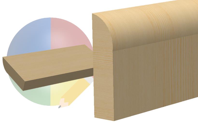 SOLIDWORKS: Zmiana kierunku ułożenia słojów drewna w wyglądach modelu