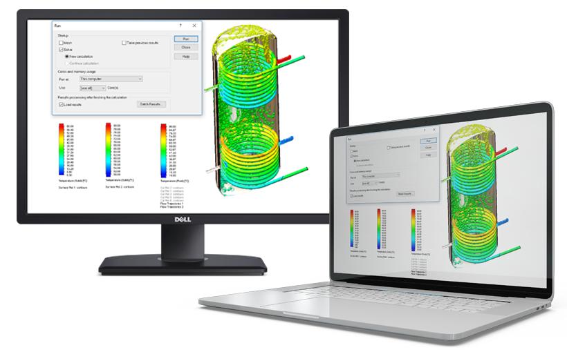 SOLIDWORKS Flow Simulation – rozdzielanie obliczeń na dwa komputery