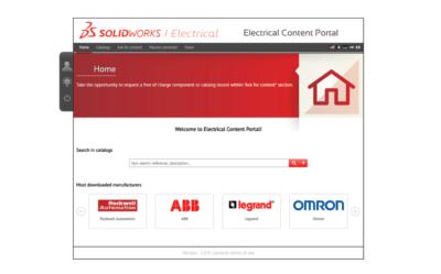 SOLIDWORKS Electrical Content Portal – darmowa baza komponentówdo pobrania