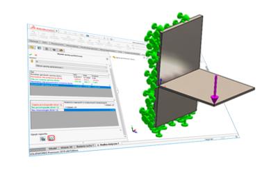 Obliczanie rozmiaru spoin w SOLIDWORKS Simulation
