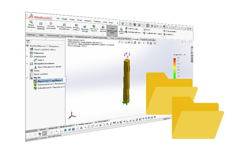 SOLIDWORKS Simulation – szybkie kopiowanie badania