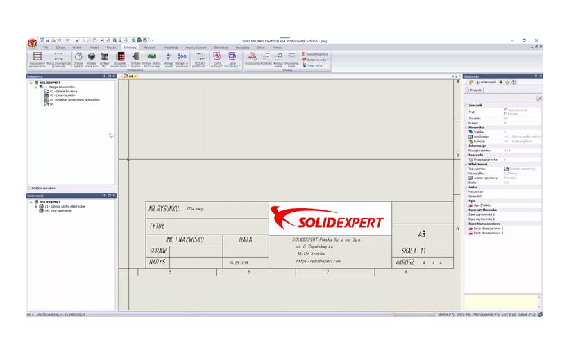 Formatki arkusza SOLIDWORKS Electrical – pierwszy krok do tworzenia własnych projektów elektrycznych