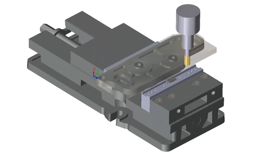 SOLIDWORKS CAM – Wbudowany symulator obróbki