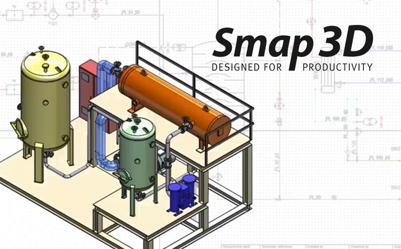 Smap3D P&ID – projektowanie schematów rurociągów