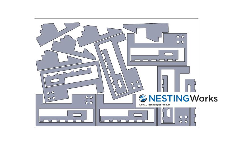 NESTINGWorks – optymalizacja rozkroju elementów na arkuszu