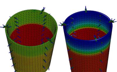 SOLIDWORKS Simulation – Obciążenia termiczne w badaniu statycznym a analiza termiczna