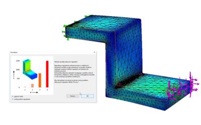 SOLIDWORKS Simulation – Wykrywanie karbu, punktu aktywnych naprężeń i punktu osobliwego naprężenia