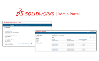 SOLIDWORKS Admin Portal – zarządzanie produktami w jednym miejscu