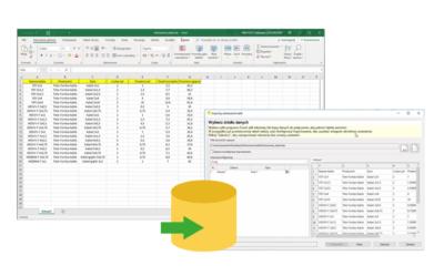 SOLIDWORKS Electrical – Importowanie odniesień kabli za pomocą pliku Excel