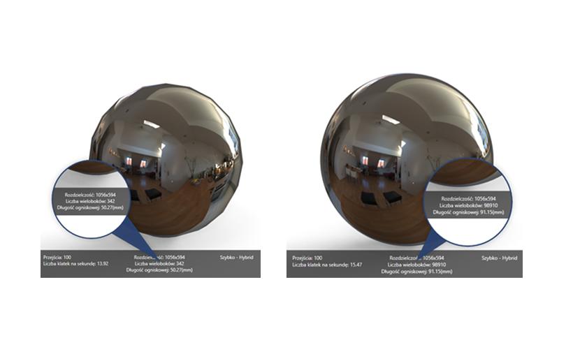 SOLIDWORKS Visualize – Jakość importowanego modelu, a liczba wieloboków