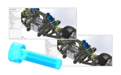 SOLIDWORKS – Zastępowanie elementu złożenia importowanego przy pomocy 3D Interconnect