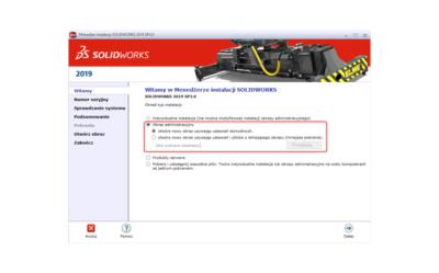 Obraz administracyjny SOLIDWORKS – instalacja skonfigurowanego oprogramowania na wielu komputerach