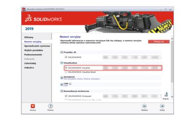 Jak znaleźć numer seryjny SOLIDWORKS Visualize Standard?