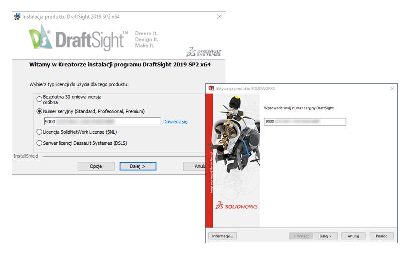 Instalacja i aktywacja DraftSight Standard, Professional, Premium