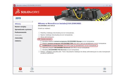 Aktualizacja serwera licencji SOLIDWORKS | SolidNetWork License Manager