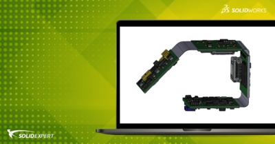 SOLIDWORKS PCB – Rigid-flex czyli projektowanie linii gięcia i podziału płytki PCB