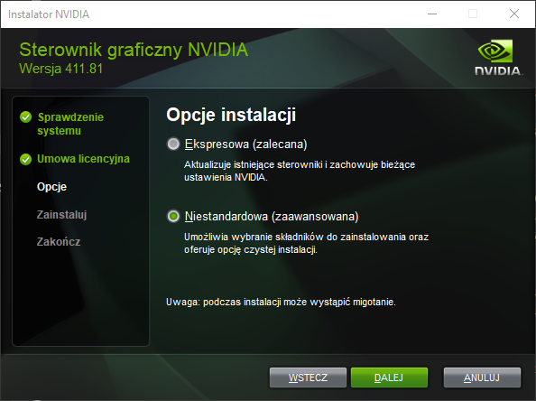 Obraz zawierający monitor, zrzut ekranu, zielony, sprzęt elektroniczny  Opis wygenerowany automatycznie