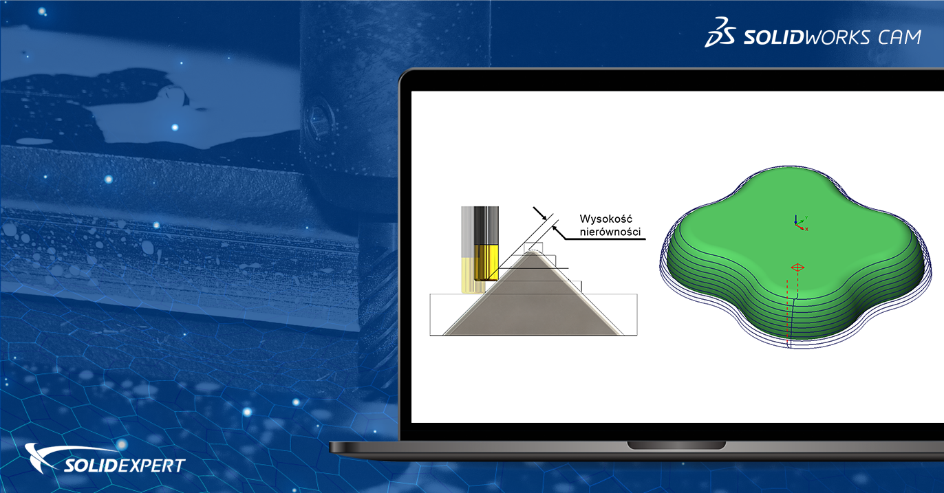 SOLIDWORKS CAM/CAMWorks – Wpływ parametrów na jakość powierzchni – operacja Poziom Z