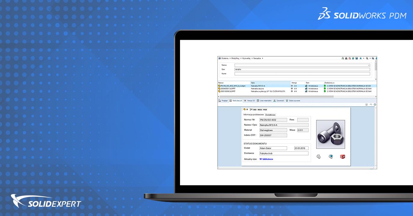 SOLIDWORKS PDM – Konfiguracja i zastosowanie kart wyszukiwania