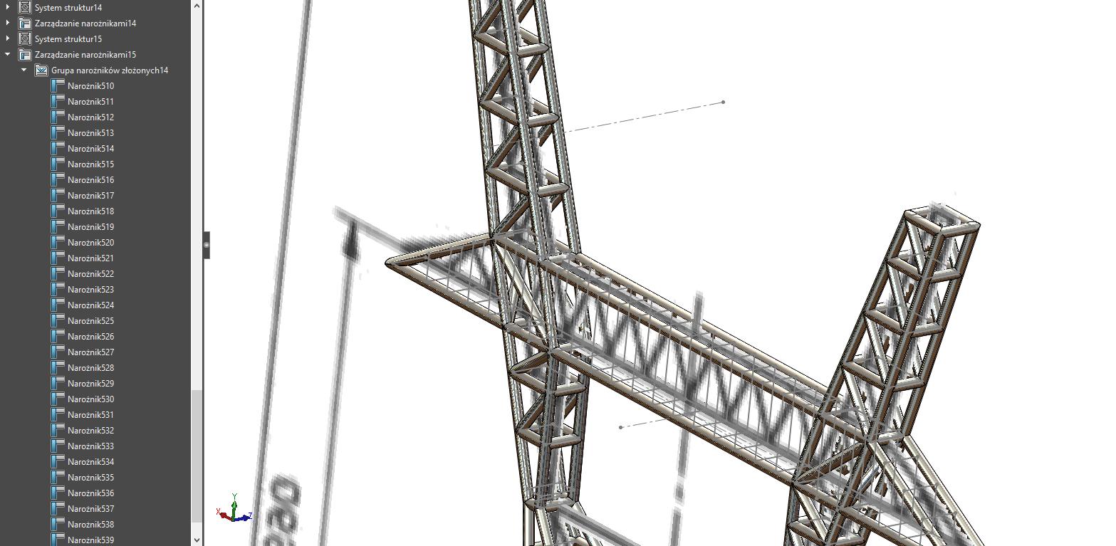 Obraz zawierający budynek, most, żuraw  Opis wygenerowany automatycznie