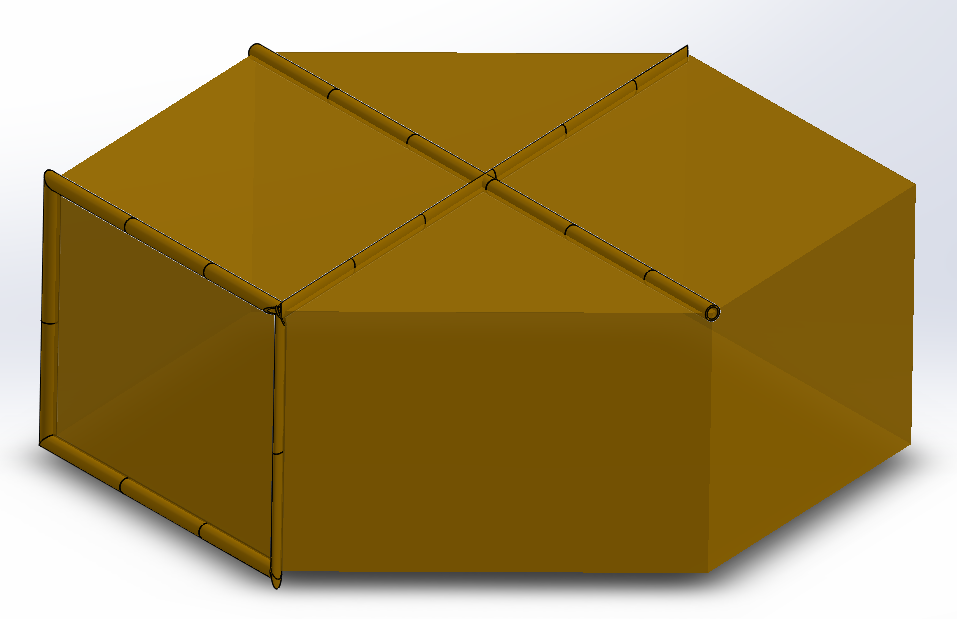 Obraz zawierający żółty, parasol, pudełko Opis wygenerowany automatycznie