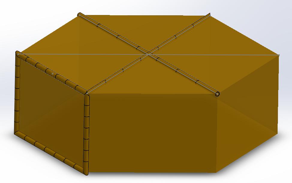 Obraz zawierający żółty, pudełko, parasol Opis wygenerowany automatycznie